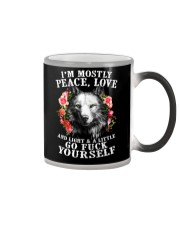 Peace Love Go Yourself Wolf Color Changing Mug thumbnail