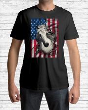 American Flag Horse  Classic T-Shirt lifestyle-mens-crewneck-front-1