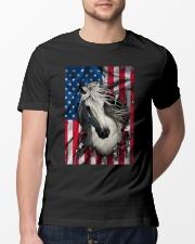 American Flag Horse  Classic T-Shirt lifestyle-mens-crewneck-front-13