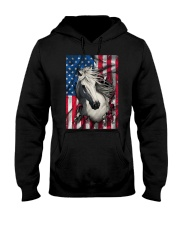 American Flag Horse  Hooded Sweatshirt thumbnail