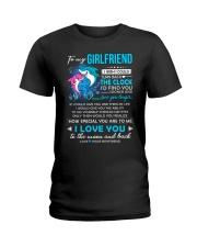 Shark Girlfriend Clock Ability Moon Ladies T-Shirt thumbnail