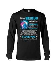 Shark Girlfriend Clock Ability Moon Long Sleeve Tee thumbnail