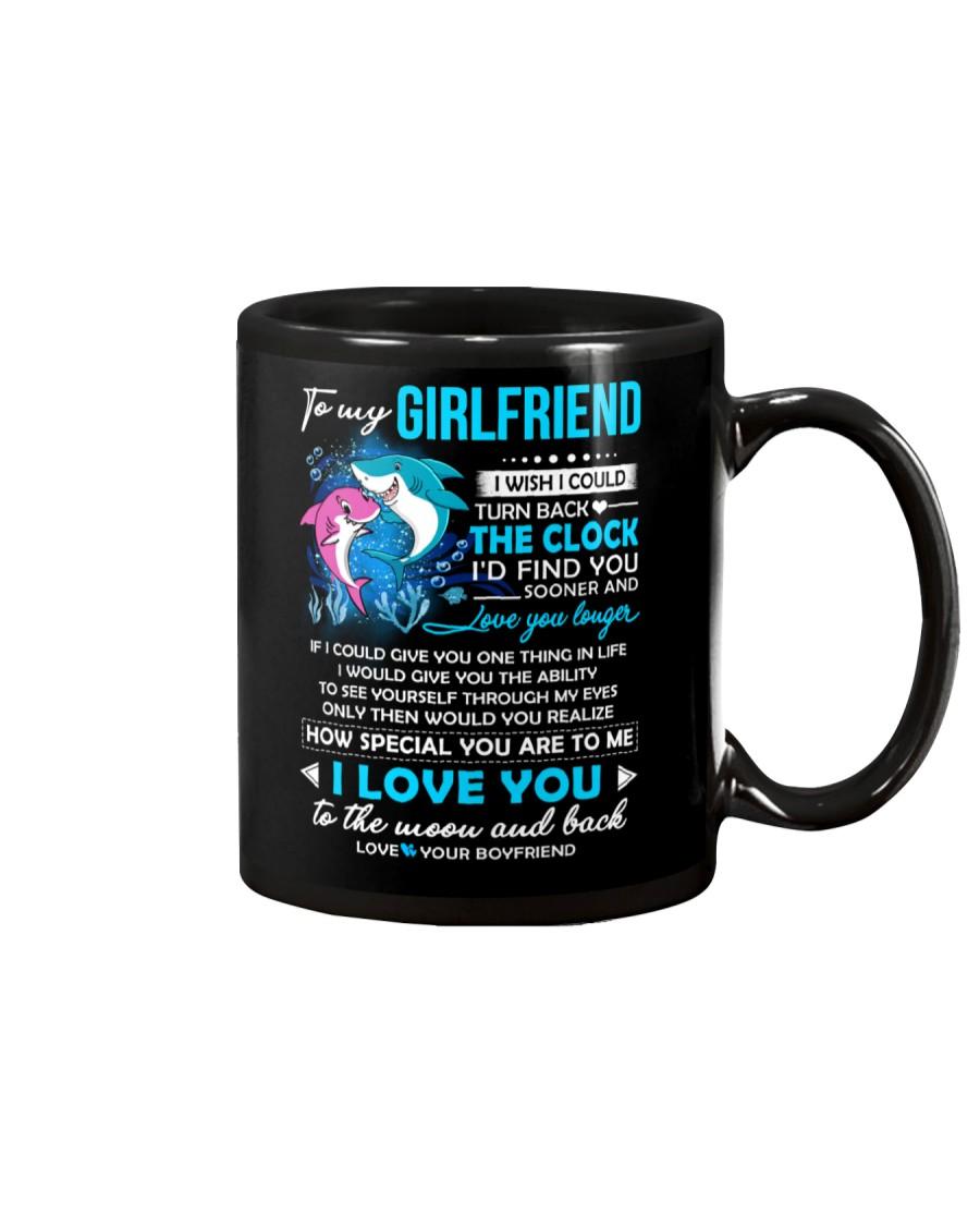 Shark Girlfriend Clock Ability Moon Mug