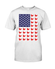 Chicken Flag Shirt Classic T-Shirt front
