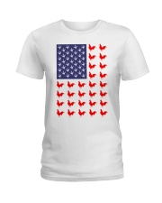 Chicken Flag Shirt Ladies T-Shirt thumbnail