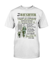 Veteran The Bond Between Daughter Mom Classic T-Shirt tile