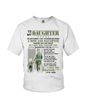 Veteran The Bond Between Daughter Mom Youth T-Shirt tile