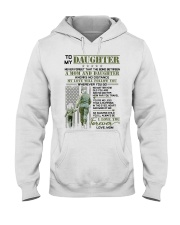 Veteran The Bond Between Daughter Mom Hooded Sweatshirt thumbnail