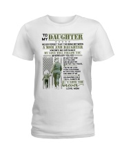 Veteran The Bond Between Daughter Mom Ladies T-Shirt thumbnail