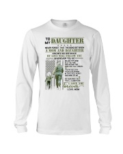 Veteran The Bond Between Daughter Mom Long Sleeve Tee tile