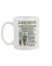 Veteran The Bond Between Daughter Mom Mug back