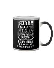 Sorry I'm Late Viking Color Changing Mug thumbnail