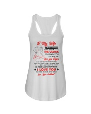 Family Wife Clock Everything Moon Ladies Flowy Tank thumbnail