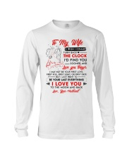 Family Wife Clock Everything Moon Long Sleeve Tee thumbnail