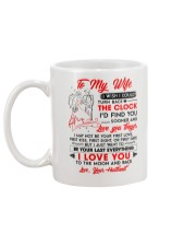 Family Wife Clock Everything Moon Mug back