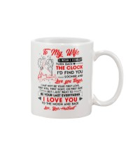 Family Wife Clock Everything Moon Mug front