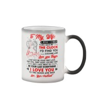 Family Wife Clock Everything Moon Color Changing Mug thumbnail