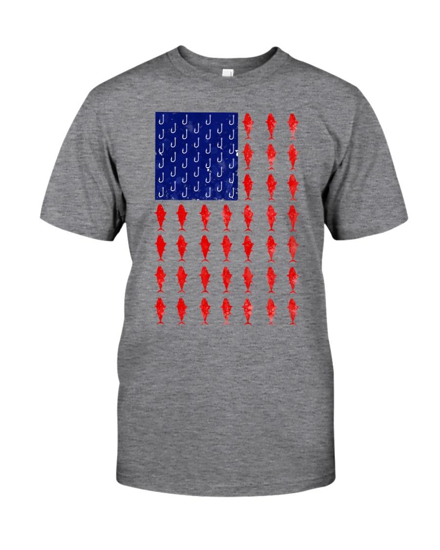 Fishing American flag shirt Classic T-Shirt