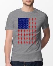 Fishing American flag shirt Classic T-Shirt lifestyle-mens-crewneck-front-13