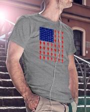 Fishing American flag shirt Classic T-Shirt lifestyle-mens-crewneck-front-5