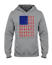 Fishing American flag shirt Hooded Sweatshirt thumbnail