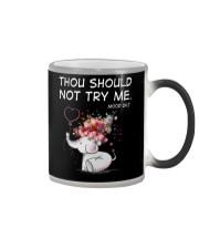 Thou Should Not Try Me Elephant  Color Changing Mug thumbnail
