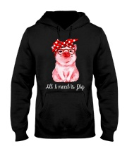 Farmer all  I need is pig Hooded Sweatshirt thumbnail