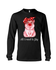 Farmer all  I need is pig Long Sleeve Tee thumbnail