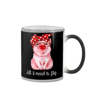 Farmer all  I need is pig Color Changing Mug thumbnail