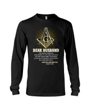 Freemason Dear Husband Mail Fowarded Long Sleeve Tee thumbnail