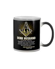 Freemason Dear Husband Mail Fowarded Color Changing Mug thumbnail