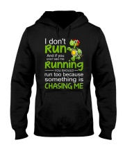 Turtle I Don't Run Hooded Sweatshirt thumbnail