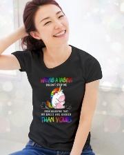 Unicorn Vagina Ball Bigger T-shirt Ladies T-Shirt lifestyle-holiday-womenscrewneck-front-1