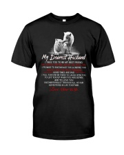 Faithful Partner True Love Husband Wolf Classic T-Shirt tile