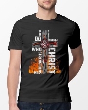 Firefighter Do All Things Through Christ Shirt Classic T-Shirt lifestyle-mens-crewneck-front-13