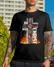 Firefighter Do All Things Through Christ Shirt Classic T-Shirt lifestyle-mens-crewneck-front-8