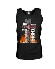 Firefighter Do All Things Through Christ Shirt Unisex Tank thumbnail