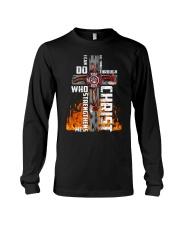 Firefighter Do All Things Through Christ Shirt Long Sleeve Tee thumbnail