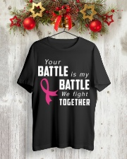Breast Cancer We Fight Together Classic T-Shirt lifestyle-holiday-crewneck-front-2