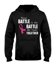 Breast Cancer We Fight Together Hooded Sweatshirt thumbnail