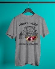 Farmer I'm don't snore  Classic T-Shirt lifestyle-mens-crewneck-front-3