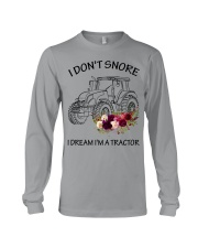 Farmer I'm don't snore  Long Sleeve Tee tile