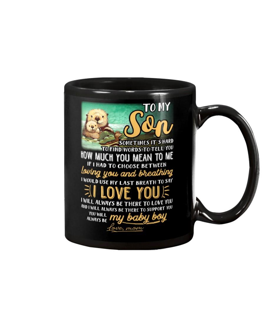 Otter Mom Son Last Breath To Say Love   Mug