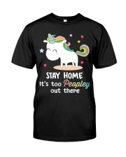 Unicorn Stay Home T-shirt Classic T-Shirt front