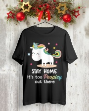Unicorn Stay Home T-shirt Classic T-Shirt lifestyle-holiday-crewneck-front-2