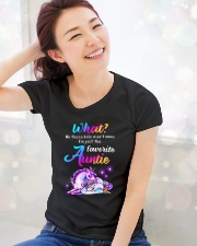 Unicorn Aunt Kids T-shirt Ladies T-Shirt lifestyle-holiday-womenscrewneck-front-1
