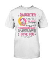 Unicorn Daughter Mom Clock Ability Moon Classic T-Shirt thumbnail