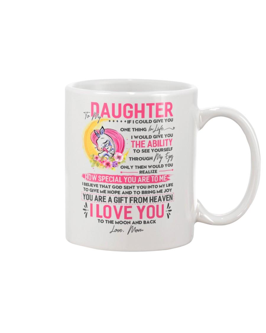 Unicorn Daughter Mom Clock Ability Moon Mug