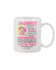 Unicorn Daughter Mom Clock Ability Moon Mug front