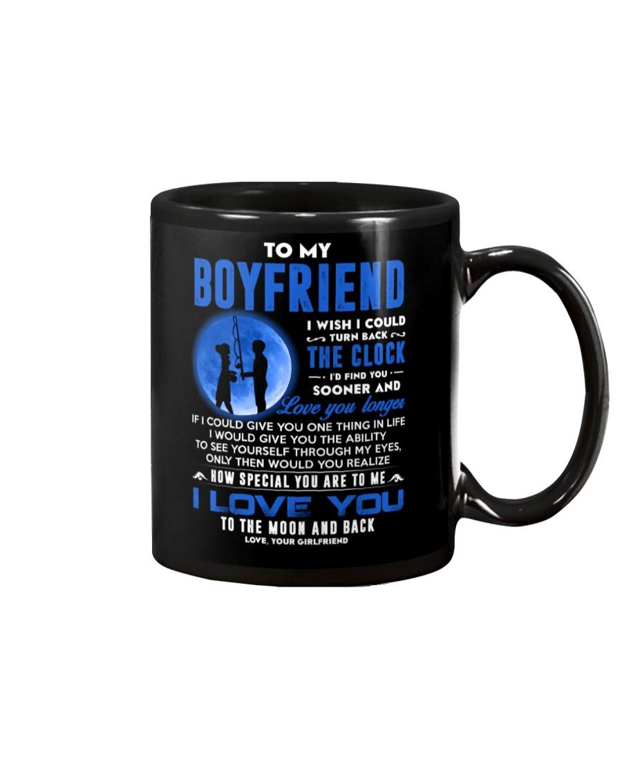Fishing Boyfriend Clock Ability Moon Mug